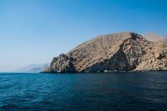 Sikt av Musandam berg Fotografering för Bildbyråer