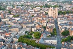 Sikt av Nantes på en sommardag Royaltyfria Foton