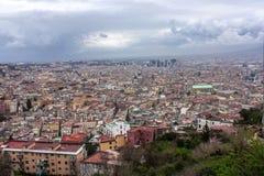 Sikt av Naples uppifrån Arkivbilder