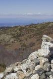 Sikt av nationalparken av Montseny, Catalonia Royaltyfri Bild