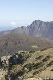 Sikt av nationalparken av Montseny, Catalonia Arkivbilder