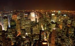 Sikt av New York från väldetillstånden Arkivbild