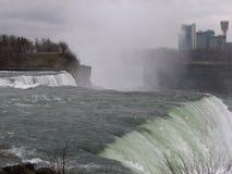 Sikt av Niagra nedgångar, Kanada Arkivbild