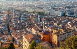 Sikt av Nice - Cote d'Azur - Frankrike Royaltyfri Foto