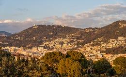 Sikt av Nice - Cote d'Azur - Frankrike Arkivfoto