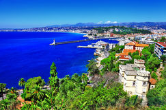 Sikt av Nice, franska riviera Fotografering för Bildbyråer