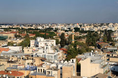 Sikt av Nicosia Royaltyfria Bilder