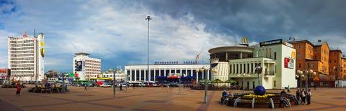 Sikt av Nizhny Novgorod - rotationsfyrkant fotografering för bildbyråer