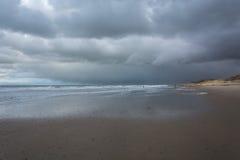Sikt av Nordsjön Arkivfoto