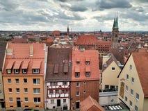 Sikt av Nuremberg den gamla staden, Tyskland royaltyfri foto