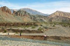 Sikt av nyfikna bergformer in Royaltyfri Foto