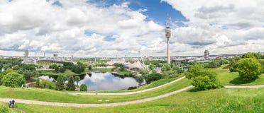Sikt av Olympiaparken, Munich Royaltyfri Fotografi