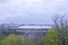 Sikt av Olympic Stadium Luzhniki i Moskva, Ryssland fotografering för bildbyråer