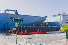Sikt av område för hamnplats för Sydney ` s Cowper nära Potts punkt royaltyfria bilder