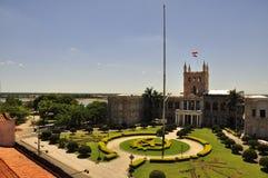 Sikt av Palacio Lopez i Asuncion, Paraguay Royaltyfri Fotografi