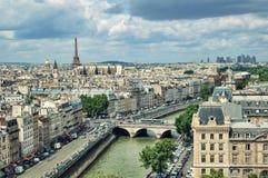 Sikt av Paris Arkivfoton
