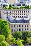 Sikt av Paris från Arc de Triomphe. Paris. Frankrike. Arkivfoto