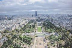 Sikt av Paris från Eiffeltorn - Frankrike Arkivbild