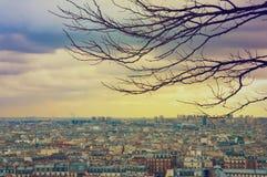 Sikt av Paris från fyrkanten av Sacren Coeur Arkivbild