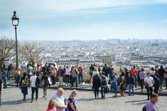 Sikt av Paris från Sacréen-Coeur Arkivbild