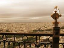 Sikt av Paris Frankrike från Eiffeltorn Royaltyfri Fotografi