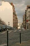 Sikt av Paris gator från den Montmartre kullen Arkivfoton