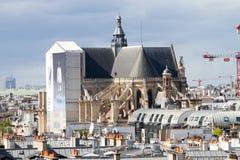 Sikt av Paris tak Royaltyfri Fotografi