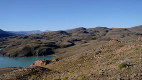 Sikt av Patagonia sjön Royaltyfri Foto