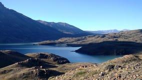 Sikt av Patagonia sjön royaltyfria bilder