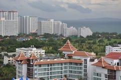 Sikt av Pattaya Arkivbilder