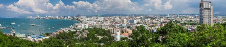 Sikt av Pattaya i Thailand Royaltyfri Foto