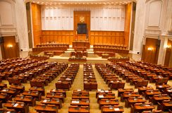 Sikt av periodsrummet av kammaren av ersättare av Rumänien Royaltyfria Bilder