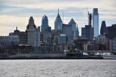 Sikt av Philadelphia horisont i Pennsylvania Arkivbilder