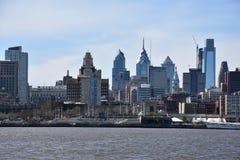 Sikt av Philadelphia horisont i Pennsylvania Royaltyfri Foto