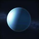 Sikt av planet Uranus Royaltyfri Fotografi