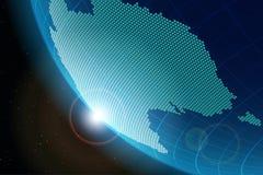 Sikt av planetjord från utrymme på den återhållsamma Australien royaltyfri illustrationer
