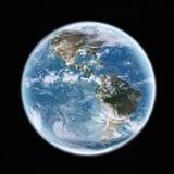Sikt av planetjorden i utrymme Arkivfoto