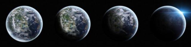 Sikt av planetjorden i utrymme Fotografering för Bildbyråer
