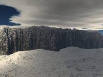 Sikt av platån med himlen och molnen Arkivfoto
