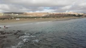 Sikt av Playa Blanca i Fuerteventura, Canarias 2 fotografering för bildbyråer
