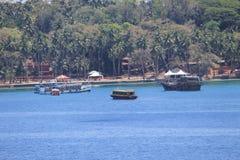 Sikt av Port Blair Royaltyfria Bilder