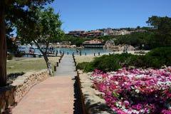 Sikt av Porto Cervo Arkivbilder