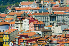 Sikt av Porto i Portugal Royaltyfri Foto