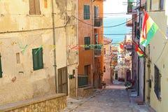 Sikt av Porto Santo Stefano - Grosseto Arkivbilder