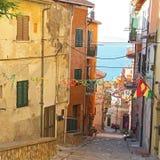 Sikt av Porto Santo Stefano - Grosseto Royaltyfri Bild