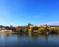 Sikt av Prague den gamla staden arkivbild