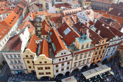 Sikt av Prague från det gamla stadshuset Royaltyfri Bild