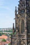 Sikt av Prague från helgonet Vitus Cathedral Royaltyfria Bilder