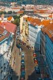 Sikt av Prague från kullen av det Vysehrad fortet, Tjeckien Royaltyfria Foton