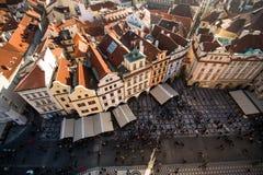 Sikt av Prague som en punkt av turistic destinationer Fotografering för Bildbyråer
